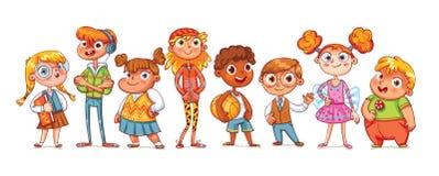 Leuke verscheidenheid van kinderen stock illustratie