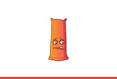 Leuke verstoorde Jelly Monster Royalty-vrije Stock Afbeelding