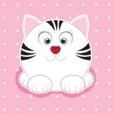 Leuke vette kat in een vlakke stijlpictogrammen Vector Illustratie