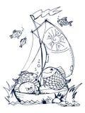 Leuke vissen royalty-vrije illustratie
