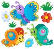Leuke vlindersinzameling 3 vector illustratie