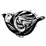Leuke vogel in een krabbelstijl Royalty-vrije Stock Foto