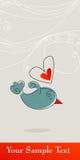 Leuke vogel in liefde Stock Afbeeldingen