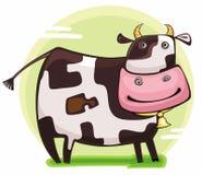 Leuke vriendschappelijke koe Royalty-vrije Stock Foto's