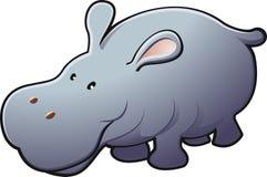 Leuke Vriendschappelijke Vector Hippo   Royalty-vrije Stock Fotografie