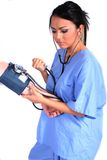Leuke Vrouwelijke Verpleegster, Arts, Medische Arbeider stock foto