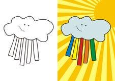 Leuke wolk Royalty-vrije Stock Afbeeldingen