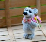 Leuke wollen teddybeer Royalty-vrije Stock Afbeeldingen