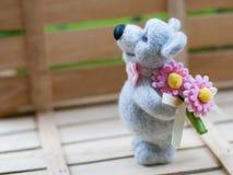 Leuke wollen teddybeer Royalty-vrije Stock Foto