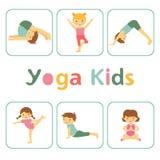Leuke yogajonge geitjes vector illustratie