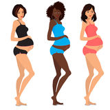 Leuke zwangere vrouwen Stock Foto