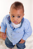 Leuke zwarte baby Royalty-vrije Stock Foto