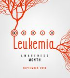 Leukemia awareness poster. World leukemia awareness month poster. Creative lettering with blood vessels isolated on white background in flat style. Acute Vector Illustration