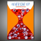 Leukemia Background Image. Leukemia vertical background in bright colors. White and red blood cells in realistic style. Leukaemia disease awareness. Editable stock illustration