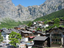 Leukerbad, Switzerland. The village of Leukerbad in Switzerland, famous for its thermal baths royalty free stock image