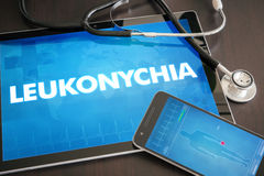 Leukonychia (cutaneous disease) diagnosis medical concept on tab Royalty Free Stock Photo