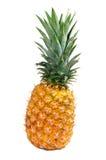Leunende rijpe ananas op wit royalty-vrije stock afbeeldingen