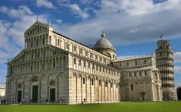 Leunende toren van Pisa Stock Foto's