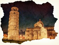 Leunende toren van Pisa Stock Foto