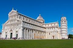 Leunende toren van Pisa en kathedraal Royalty-vrije Stock Fotografie