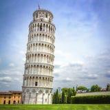 Leunende Toren van Pisa, Italië Stock Foto