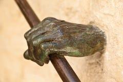 Leuning in Gordes stock afbeelding