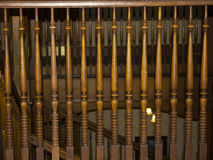 Leuningen in oud trappenhuis Royalty-vrije Stock Afbeelding