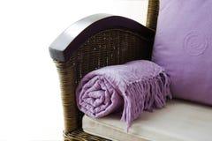 Leunstoel, en huisdecoratie Stock Fotografie