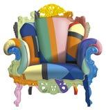 Leunstoel met abstracte kleuren Stock Afbeeldingen