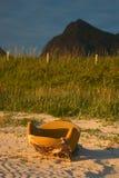 Leunstoel met Seaview Stock Fotografie