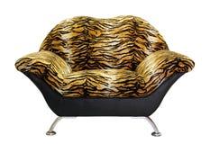 Leunstoel met tijgerbont Royalty-vrije Stock Afbeelding