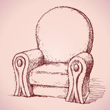 Leunstoel Vector tekening Royalty-vrije Stock Foto