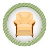 Leunstoel vectorillustratie Royalty-vrije Stock Afbeelding