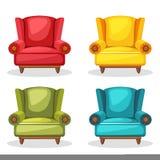 Leunstoel zachte kleurrijke eigengemaakt, reeks 2 royalty-vrije stock afbeelding