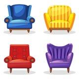 Leunstoel zachte kleurrijke eigengemaakt, reeks 5 royalty-vrije stock afbeelding