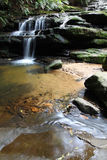 Leura Cascades. Is located in the Blue Mountains, a famous tourist destination west of Sydney. This set of cascades is readily accessible from Leura one of the Royalty Free Stock Images