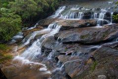 Leura monte en cascade - les montagnes bleues - l'Australie photo stock