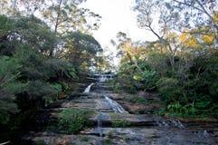 Leura precipita a cascata la cascata vicino a Katoomba in nationa blu delle montagne immagine stock libera da diritti
