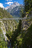 Leutasch Gorge in the German alps Stock Image