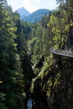 Leutasch Gorge in the German alps, Bavaria Royalty Free Stock Photo