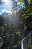 Leutasch Gorge in the German alps, Bavaria Royalty Free Stock Photography