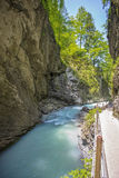 Leutasch Gorge in the German alps, Bavaria Royalty Free Stock Images