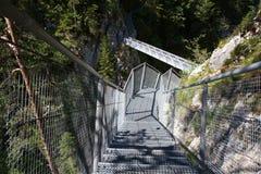 Leutasch Schlucht in den deutschen Alpen Stockbild