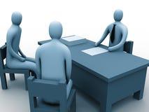 Leute 3d in einem Büro Vektor Abbildung