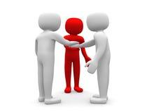 Leute 3d mit Aktenkoffer. Partnerschaft und Freunde Lizenzfreies Stockfoto
