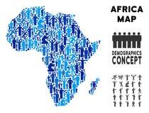 Leute-Afrika-Karte stock abbildung