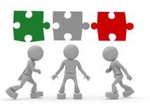 Leute als Puzzlespiel Lizenzfreie Stockbilder