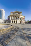 Leute an Alte-Operation in Frankfurt Lizenzfreies Stockbild
