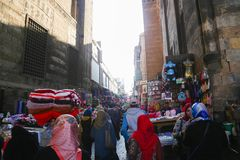 Leute altes Kairo Lizenzfreie Stockfotografie
