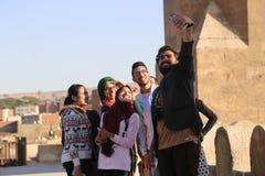 Leute altes Kairo Stockfotografie